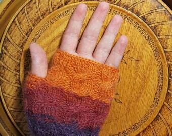 Handknitted fingerless glove,fingerless mittens,colorful glove,Made in Turkey,Gift,Women's glove