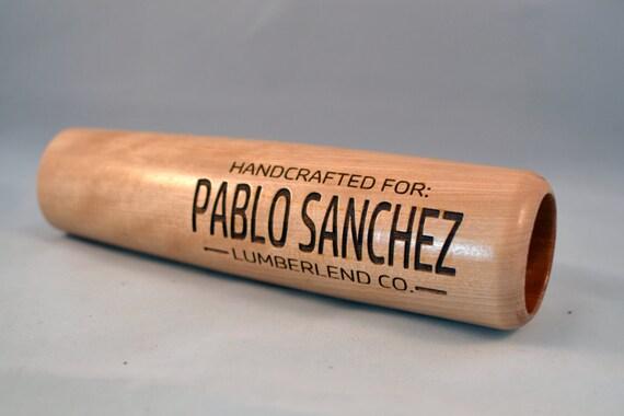 Custom Engraved Natural Wooden Baseball Bat Coffee Mug Great