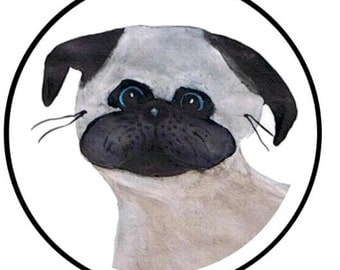 Baby Pug Envelope Seals 24CT