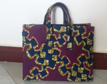 African print laptop bag