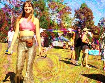 Sparkle festival rave Flare Pants