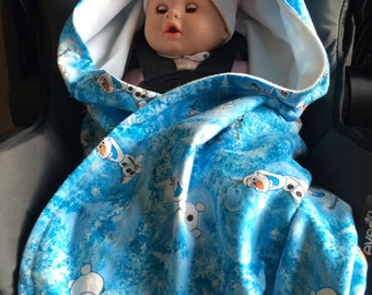 Olaf Infant Car Seat Blaket
