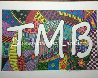 Custom Letter Doodle Art