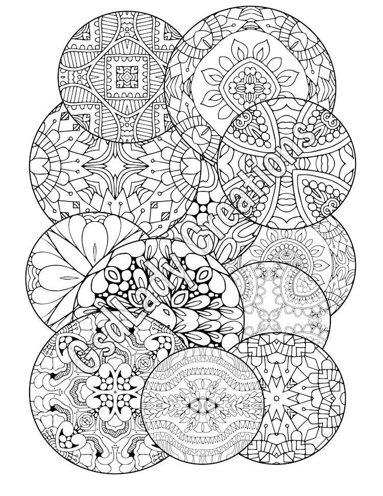 coloring pages adults circle - photo#22