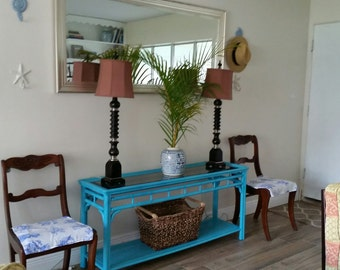Turquoise Console or Entry Table