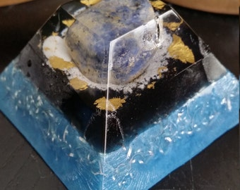 Sodalite Orgones Pyramid (discovered by Karl Hans Welz)
