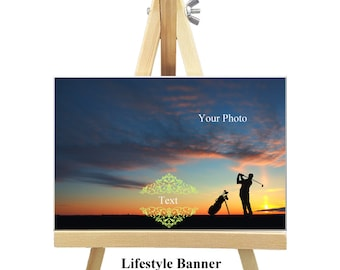 18cm x 12cm Personalized Canvas with Easel - Lifestyle