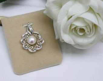 Sterling Silver Pearl Pendant 925 Sterling Silver Pendant with Fresh water Pearl  (P104)