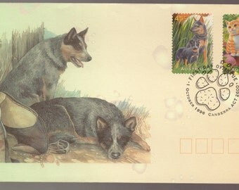 Beautiful FDC of Australia Animals Pets Dogs Cats Puppies Kittens