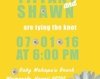Daisy Wedding Invite