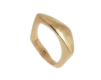 24K Gold Vermeil Pebble Ring