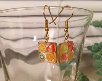 Juicy Fruit Resin Earrings