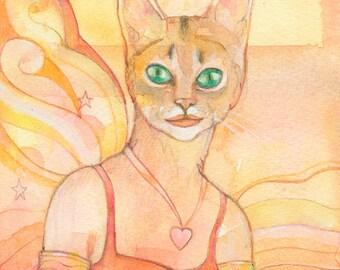 Abyssinian Cat Goddess