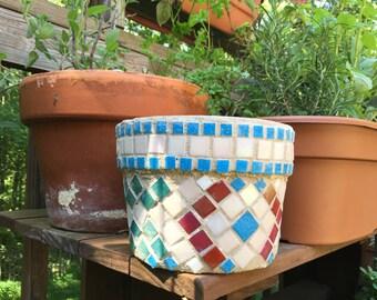 Mosaic Ceramic Pot