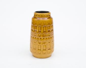 Retro Scheurich 260-15 Inka vase yellow ochre