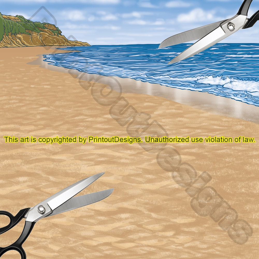 Scrapbook paper beach - This Is A Digital File