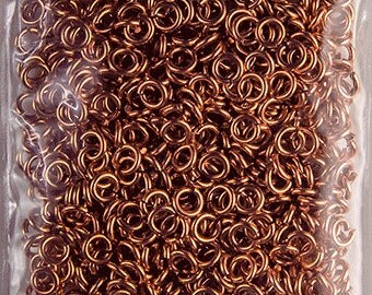 100-500pcs, 4mm 20 Gauge Open Solid Copper Jump Rings