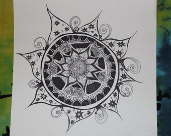 Zentangle drawing / Zentangle Untitled drawing no.. 1