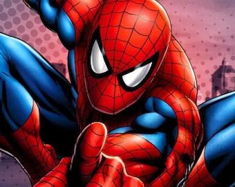 "Counted Cross Stitch Pattern ""Spiderman"""