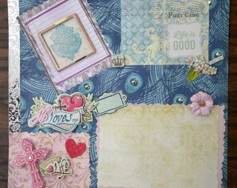 12X12 Religious/Christian Premade Scrapbook page