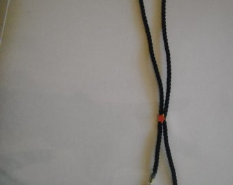 Long adjustable cord necklace