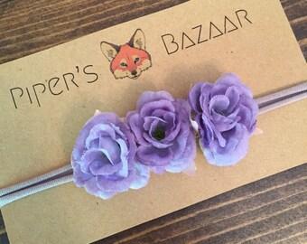 Lilac Flower Baby Headband