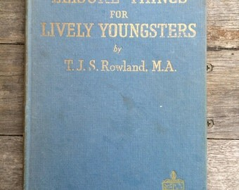 "Vintage book ""Leisure things for lively youngsters"""