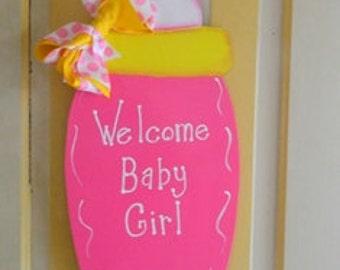 Baby Girl Bottle Wall Art