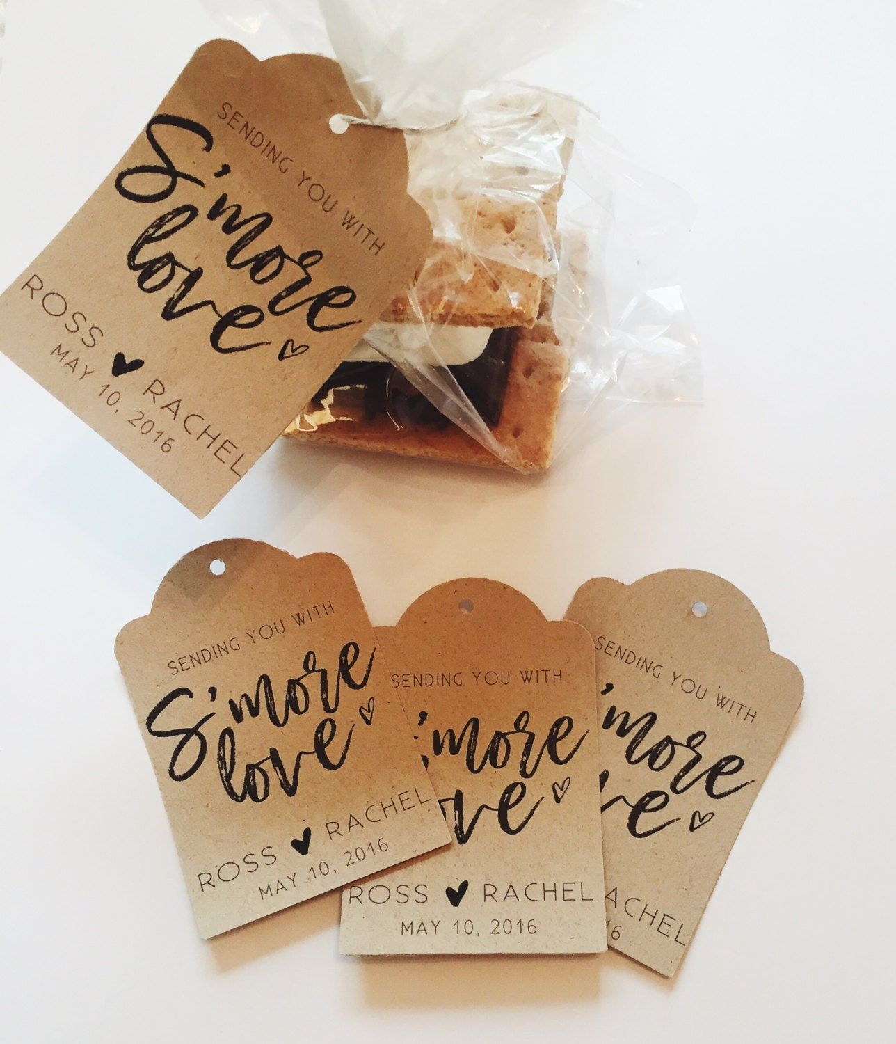 Smore Love Wedding Favor tags / Custom Wedding Favor tags /