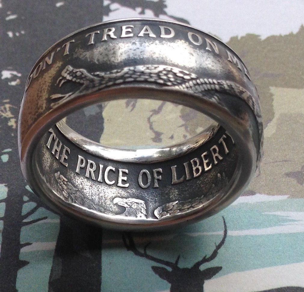 Don T Tread On Me Coin Ring 99 99 Pure Silver