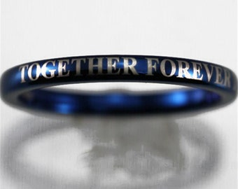 top quality doctor who inspired 2mm width blue dome men womens tungsten ring comfort fit design - Dr Who Wedding Ring