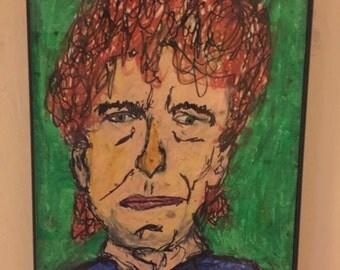 Old Bob Dylan Portrait (Original Artwork)
