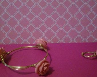 flowers Bracelet and ring set