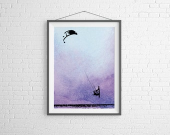 Original design kite surfing print