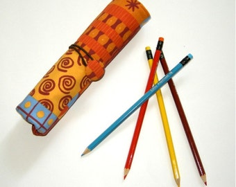 Pencil Roll Case Coloring Pencil Holder Gift for Kids