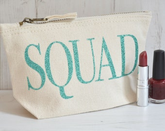 Squad Makeup Bag | Best Friend Gift | Large Toiletry Bag | Birthday Present | Gift for Women | Gift for Her | Christmas Gift Idea