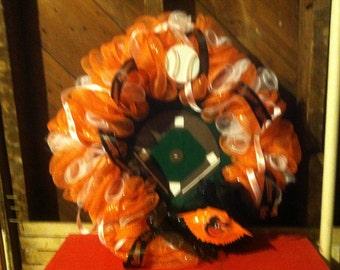 ORIOLES mesh wreath FREE SHIPPING
