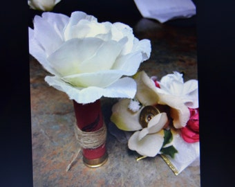 Shotgun shell Boutonniere and Corsage
