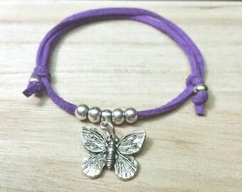 Bracelet of nina violet with butterfly