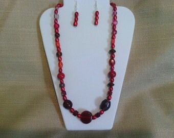 204 Frankly Scarlet Beaded Necklace