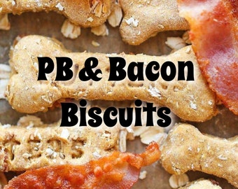 Peanut Butter & Bacon Biscuits
