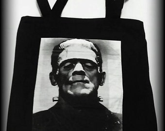 Frankenstein Tote Bag, Frankenstein, Frankenstein Bag, Horror Bag, Horror Clothing, Horror