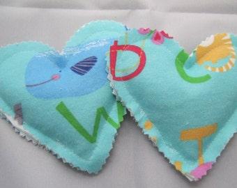 Aqua Alphabet Let Down Loveys
