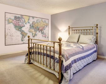 Photo Wallpaper Wall Mural for Bedroom Decor, Living Room Decor, Office or Dining Room - Historic World Map Large Wall Mural UK
