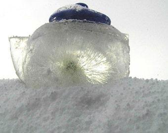 IceTea - Print - Fine Art Photography - ice - snow - sculpture - white - blue