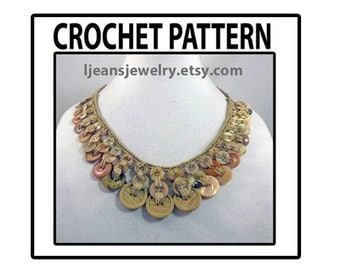 Crochet Egyptian Button Necklace Jewelry Pattern