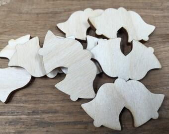 Crafting Supplies - 25 Laser cut wooden Bells