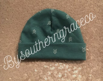 Teal Arrow Newborn Beanie/Hat/Infant Hat/