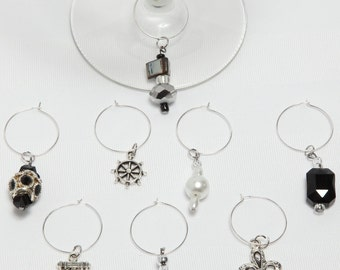 Identifiers wineglasses, great gift, hostess, birthdays, Mariages.Cet set includes 8 not available