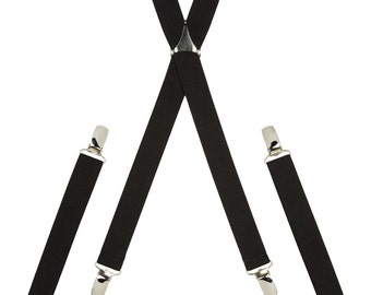 Plain Black Skinny Braces